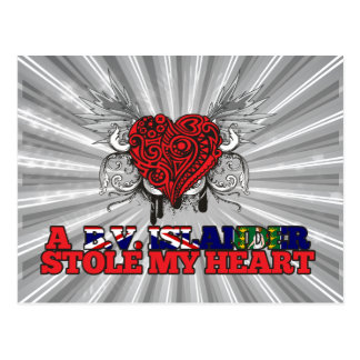 A B.V. Islander Stole my Heart Postcard
