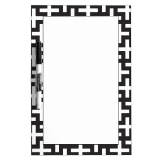 A b&w patterns made with 'plus' sign Dry-Erase board