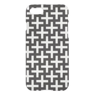 A b&w patterns made with 'plus' sign iPhone 8/7 case
