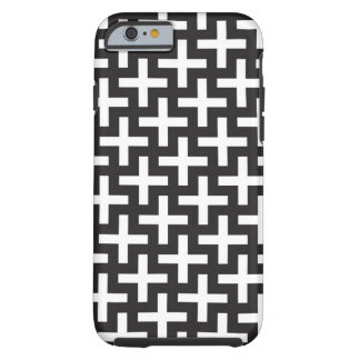 A b&w patterns made with 'plus' sign tough iPhone 6 case