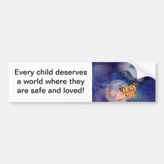 A baby and mother's joy bumper sticker