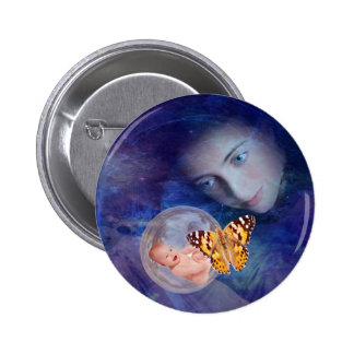 A baby and mother's joy pinback buttons