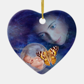 A baby and mother's joy ceramic ornament