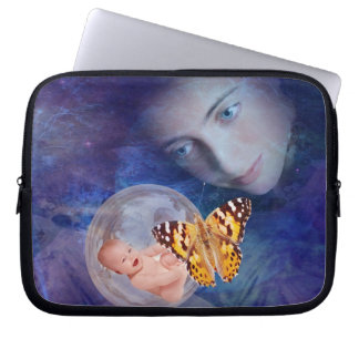 A baby and mother's joy laptop sleeve