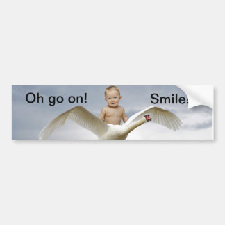 A baby and the swan sky bumper sticker