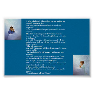 A BABY ASKED GOD.... POSTER