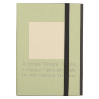 A Baby Beige Toksie Turbie Cover For iPad Air