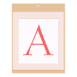 A Baby block  initial shower decoration Postcard