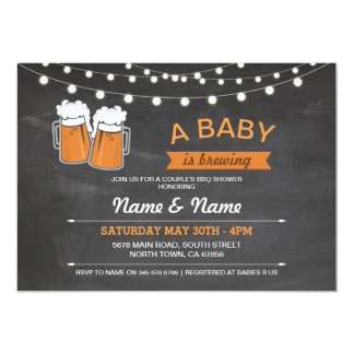 A Baby Brewing Shower Beers Lights Chalk Invite