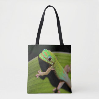 A Baby Green Gecko Tote Bag