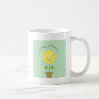 'A Baby is Blooming' White Drink Coffee Mug