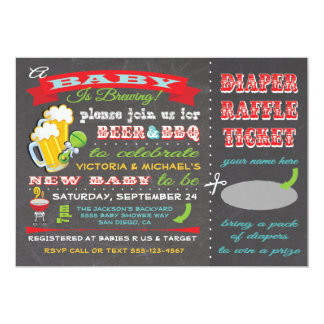 A Baby is Brewing Baby Shower Diaper Ticket Card