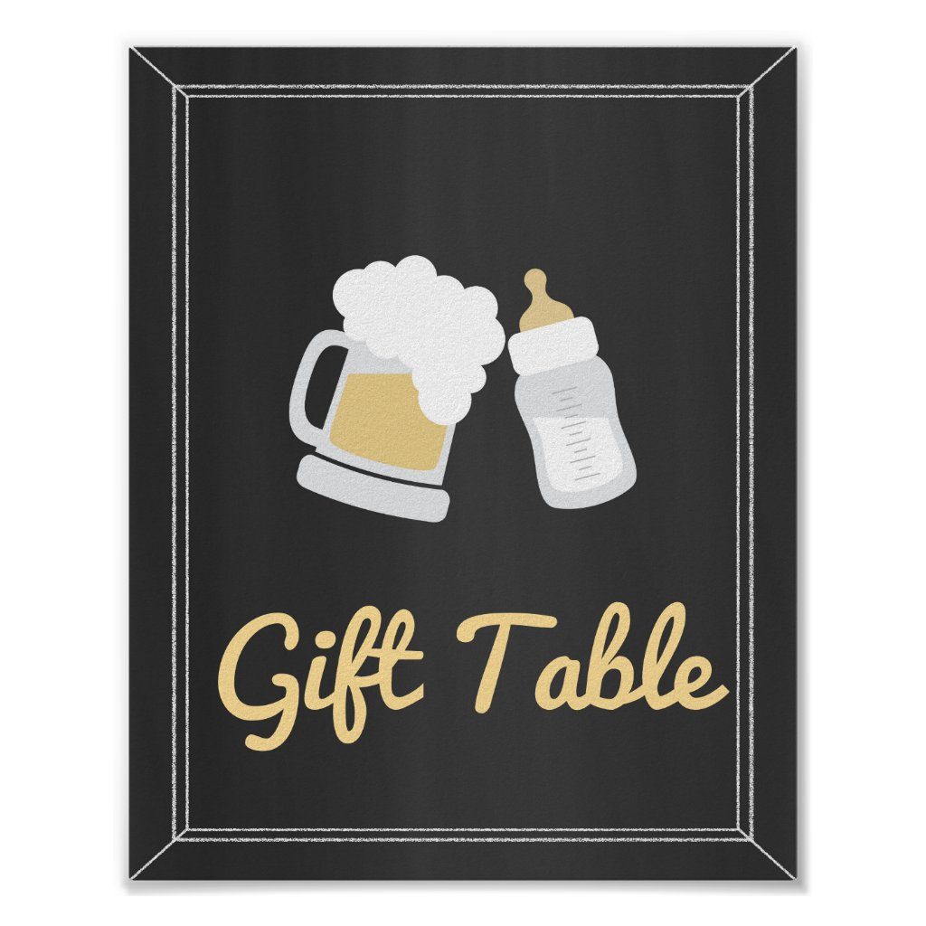 A Baby is Brewing Baby Shower Gift Table Sign
