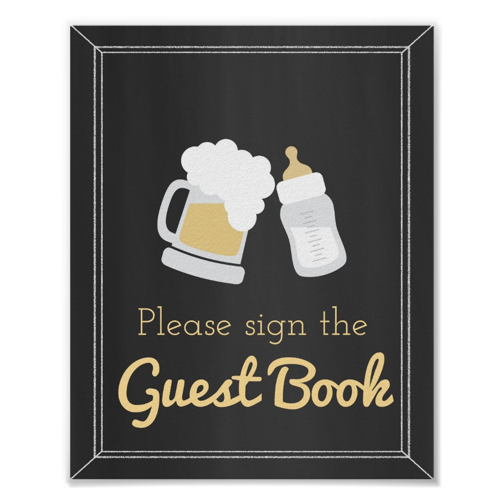 A Baby is Brewing Baby Shower Guest Book Sign