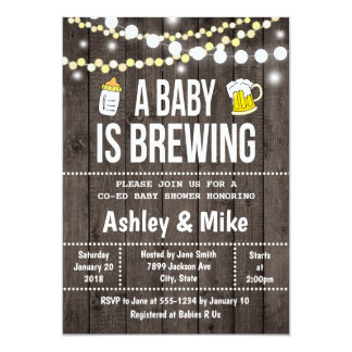 A Baby is Brewing - Baby Shower Invitation