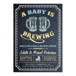 """""""A Baby is Brewing"""" Baby Shower Invitations (Boy)"""