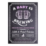 """""""A Baby is Brewing"""" Baby Shower Invitations (Girl)"""