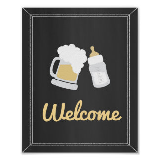 A Baby is Brewing Baby Shower Welcome Sign
