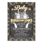 """A """"Baby is Brewing"""" Couples BBQ Invitation"""