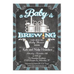 """A """"Baby is Brewing"""" Couples BBQ Invitation - Boy"""