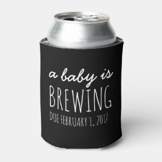 a baby is brewing funny baby shower can cooler