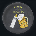 "A Baby Is Brewing Plate<br><div class=""desc"">a cute addition to this theme</div>"