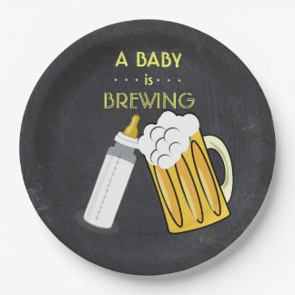 A Baby Is Brewing Plate