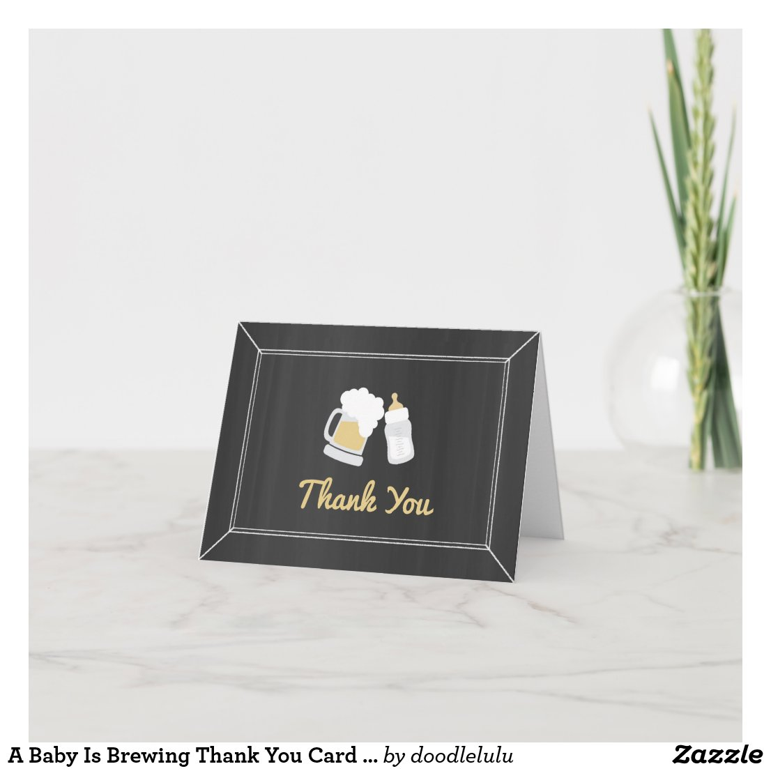 A Baby Is Brewing Thank You Card BabyQ