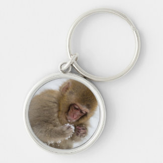A baby Japanese Macaque (or snow monkey) Key Chain