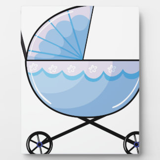 A baby pram display plaques