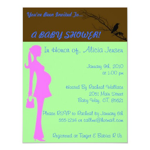 A BABY SHOWER 4.25X5.5 PAPER INVITATION CARD