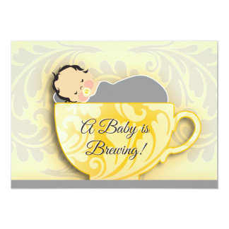 A Baby Shower Tea Party     Gender Neutral Card
