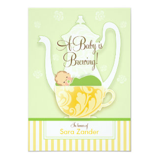 A Baby Shower Tea Party  |  Gender Neutral Card