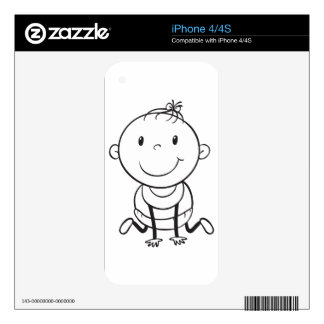 a baby sketch iPhone 4S decals