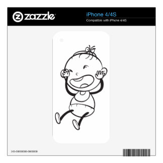 a baby sketch iPhone 4 skins