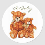 A Baby Teddy Bear Envelope Seal Stickers
