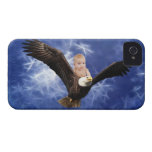 A baby's eagle adventure in blue Case-Mate iPhone 4 cases