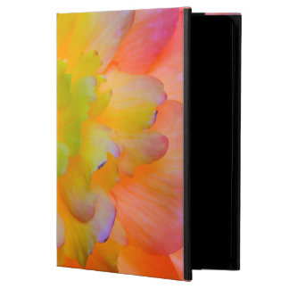 A back-lit, glowing begonia blossom cover for iPad air