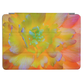 A back-lit, glowing begonia blossom iPad air cover