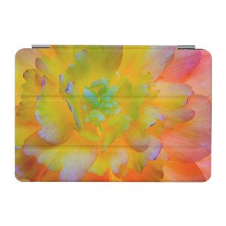 A back-lit, glowing begonia blossom iPad mini cover