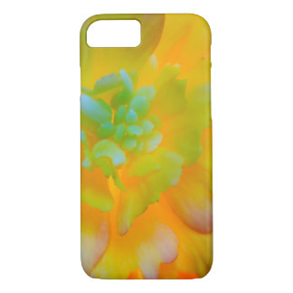 A back-lit, glowing begonia blossom iPhone 8/7 case