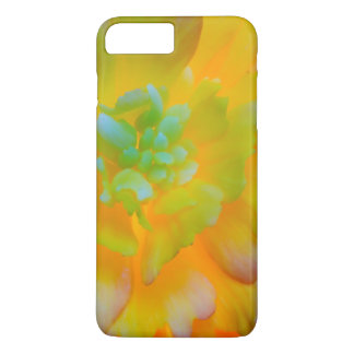 A back-lit, glowing begonia blossom iPhone 8 plus/7 plus case
