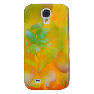 A back-lit, glowing begonia blossom samsung s4 case
