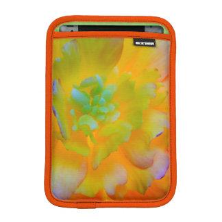 A back-lit, glowing begonia blossom sleeve for iPad mini