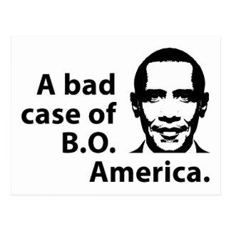 A Bad Case of B.O. America Postcard