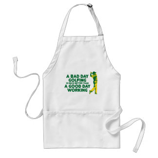 A Bad Day Golfing Adult Apron