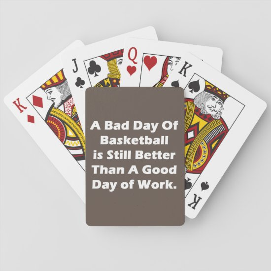 A Bad Day Of Basketball Playing Cards