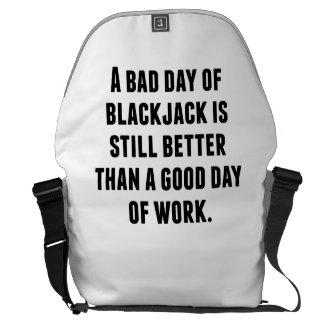 A Bad Day Of Blackjack Courier Bag