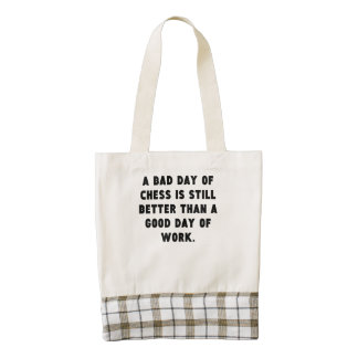 A Bad Day Of Chess Zazzle HEART Tote Bag