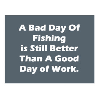 A Bad Day Of Fishing Postcard